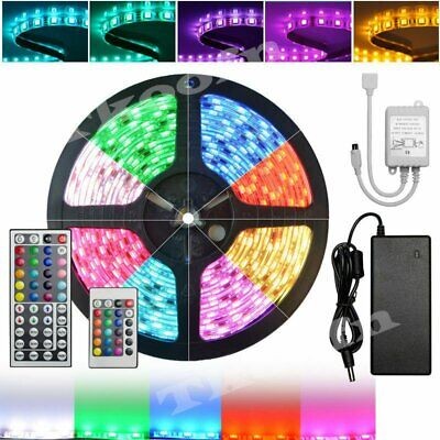 LED Strip Lighting 5M 10M 15M 20M 3528/5050 RGB Flexible Color Changing Lights