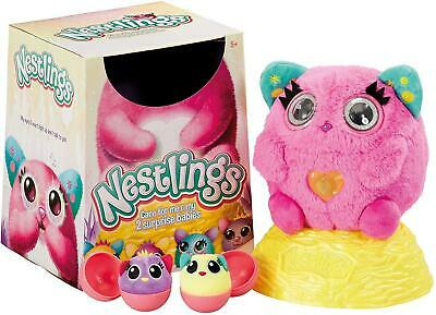 Nestlings Interactive Soft Toy Pet & Babies with Lights and Sounds - Pink Colour