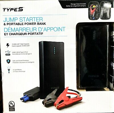 Type S Lithium Jump Starter Portable Power Bank with LED Flashlight
