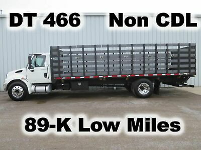 4300 Dt-466 Automatic 24-Ft Flat Bed Body Haul Delivery Lift Gate Truck Low Mile