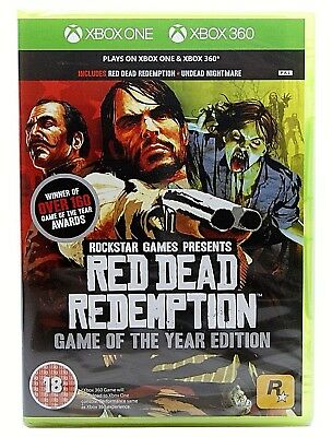 Red Dead Redemption Game of the Year GOTY (Xbox One & Xbox 360) NEW