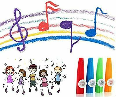 """Pop 4"""" Plastic KAZOO Music Maker 4 Assorted Colours Childrens Toy Kids Gifts UK"""