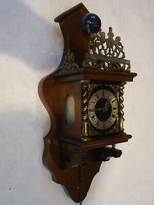 Vintage Dutch Small Wall Clock. Spares Or Repair