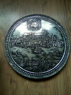 Vintage cadburys of bournville tin of ancient London 15 inches round.