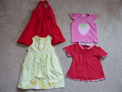 Baby Girls George Cherokee Tops and Dresses Bundle. Age 12-18 months