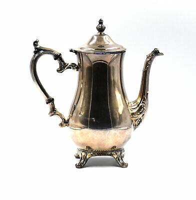 Vintage Wm Rogers Coffee Tea Pot Pitcher Beverage Service Silver Plate #800