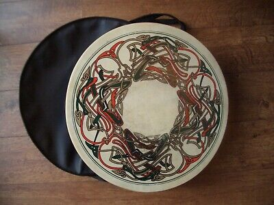 Irish Folk Drum Glenluce 14in TUNEABLE BODHRAN w// 3.5in deep body /& tuning rim