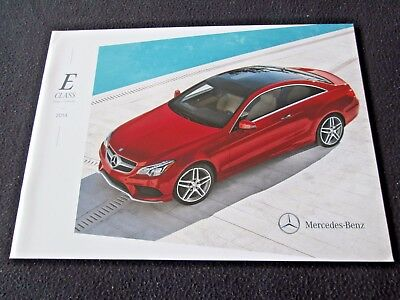 2014 Mercedes Benz E-class Coupe & Cabriolet Catalog E350 E550 Conv US Brochure