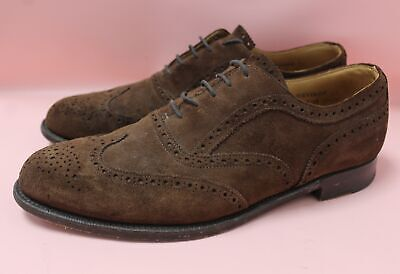 Mens CHEANEY Brown Suede Brogues 100% Leather UK 11 EU 44 US 12 Grosvenor - B84