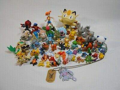 Pokemon Figures  - Different Sizes Lot of 65 Pikachu, Meowth, Bulbasaur, Ect