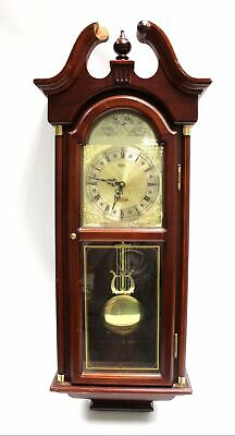 Vintage PRESIDENT Westminster Chime Quartz Wooden Wall Clock 90x36cm - N10