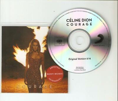 """Celine Dion """"Courage"""" New Brazilian Official Sony Cd Promo"""