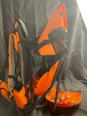 ClevrPlus Cross Country Baby Backpack Hiking Child Carrier Toddler Orange