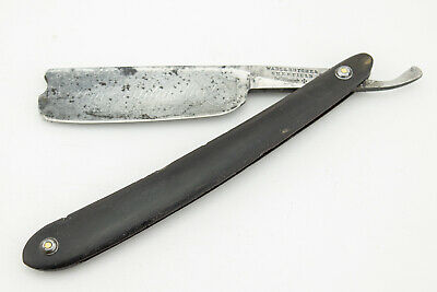 Antique Straight Razor 7/8 Wade & Butcher Heavy Wedge With Barber's Notch 1786
