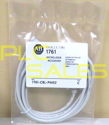 Replacement 1761-CBL-PM02 Cable for Allen Bradley MicroLogix  *NEW*