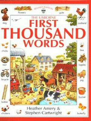 The Usborne first thousand words by Heather Amery (Hardback) Fast and FREE P & P