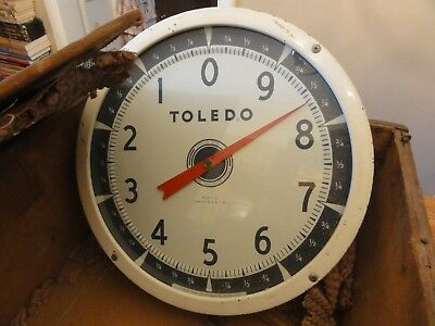 Incredible Vintage TOLEDO Produce Scale #2110 in Antique Homemade Crate 1950's