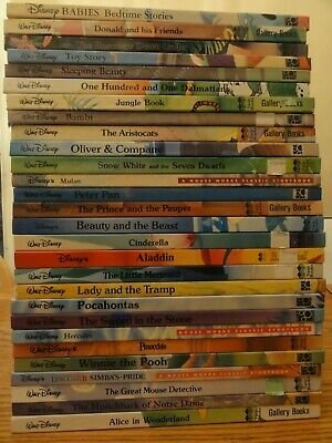 NICE 33 Walt Disney Classic Storybook Collection Gallery Twin Books Mouse Works
