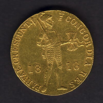 Netherlands. 1818 Gold - Trade Ducat..  EF