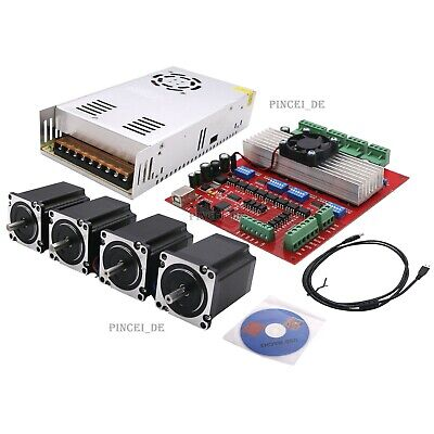 MACH3 CNC 4-Axis Kit,Stepper Motor Controller+ Stepper Motor + Power Supply