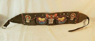 Coolest Orig 1940's 50's Rockabilly Pinup Girl Motorcycle Leather Kidney Belt