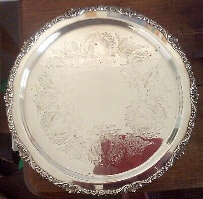 Silver Plated Platter : Old Sheffield Reproduction by Strachan