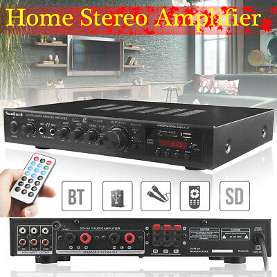 2000W 5CH 110V bluetooth 4.0 Home  Stereo Power Amplifier  AV Surround Karaoke