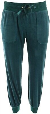 AnyBody Petite Velour Jogger Pants Pine PM NEW A345308