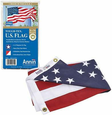 Annin Flagmakers Model 2710 American Flag 3x5 ft. Tough-Tex the Strongest,