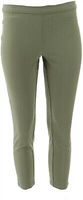 Isaac Mizrahi Petite 24/7 Stretch Ankle Pants Rosemary 12P NEW A302697