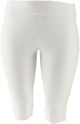 Wicked Women Control Petite Pedal Pusher Side Slits Alabaster PL NEW A352759
