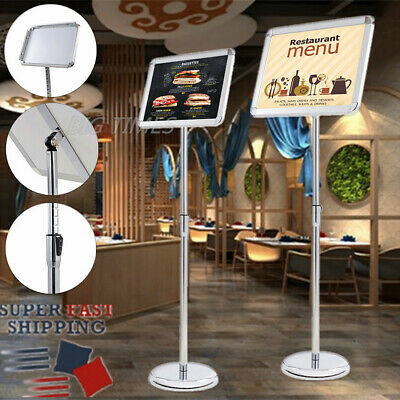 Adjustable Poster Display Pedestal Floor Stand Sign Holder Trade Show Restaurant