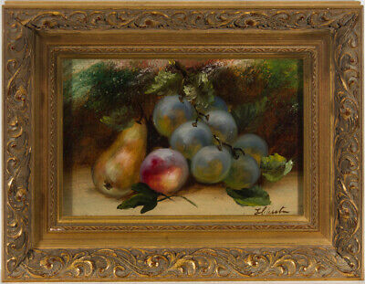 E. Chester - Early 20th Century Oil, Still Life, Autumn Fruit