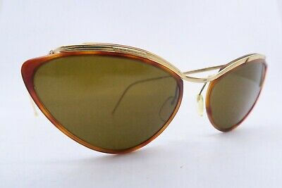 Vintage 50s sunglasses gold filled SOL AMOR brown glass lens made in France