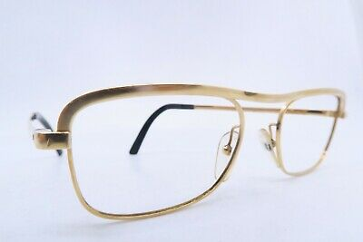 Vintage 60s eyeglasses frames gold filled ESSEL size 49-21 made in France