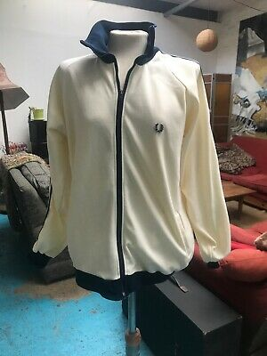 DEADSTOCK original Vintage Fred Perry Tracksuit Top c1970s RARE Mens Large