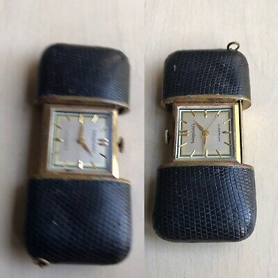 Antique Miniature Traveling Clock Newburger Loeb & Co Purse Watch Form Pendant