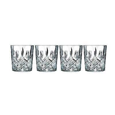Double Old Fashioned Glasses Scotch Whiskey Crystal Glass Set of 4 FREE SHIPPING