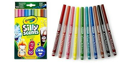 Crayola Silly Scents Marker Fine Line Slim Felt Tip Kids Colouring Drawing Pens