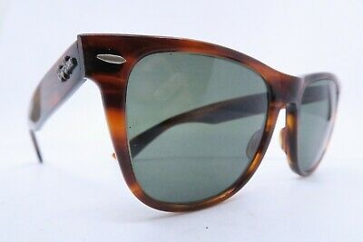 Vintage B&L Ray Ban Wayfarer II sunglasses etched lens made in the USA