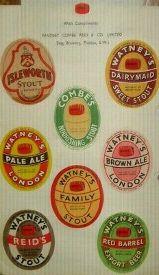 Old London Beer Labels Nice Lot 1950s