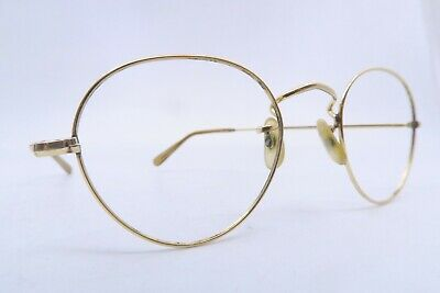 Vintage off round eyeglasses frames gold filled ALGHA 20 made in England