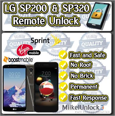 Unlock LG SP200 & LG SP320 / Sprint Boost Mobile Virgin Mobile / Remote Service