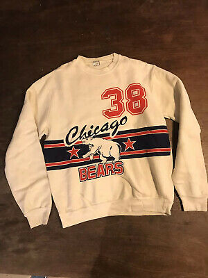 DEADSTOCK vintage c1970s Chicago Bears Sweatshirt RARE Unworn Large