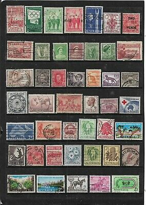AUSTRALIA KING GEORGE 5th ON-WARDS PRE-DECIMAL STAMPS USED COLLECTION