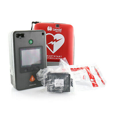 Philips Heartstart FR3 AED with ECG Bundle 861389 with Case, Battery and Pads