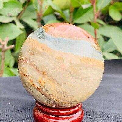 411g Natural Polychrome Ocean Jasper Polished Ball Healing B420