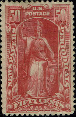 #Pr119 1895 50 Cent Newspaper & Periodical Issue-Mint-Og/Hinged-Vf