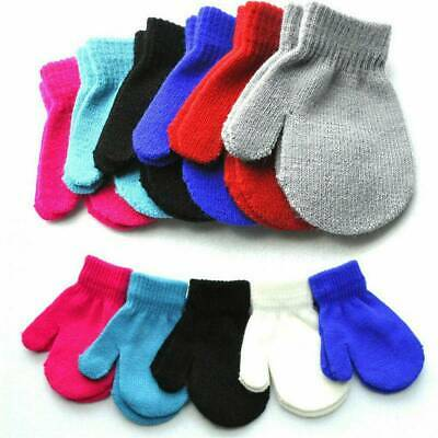Simple Winter Warm Gloves Toddler Kid Soft Knitting Gloves Baby Boy Girl Mittens