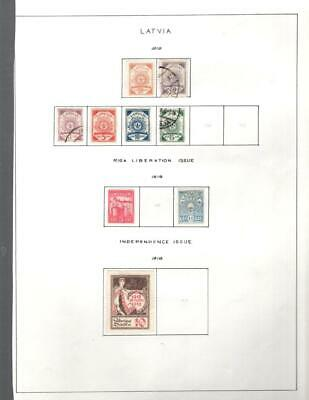 1¢ Wonder's ~ Latvia M&U Small Lot On Pages All Shown ~ W588